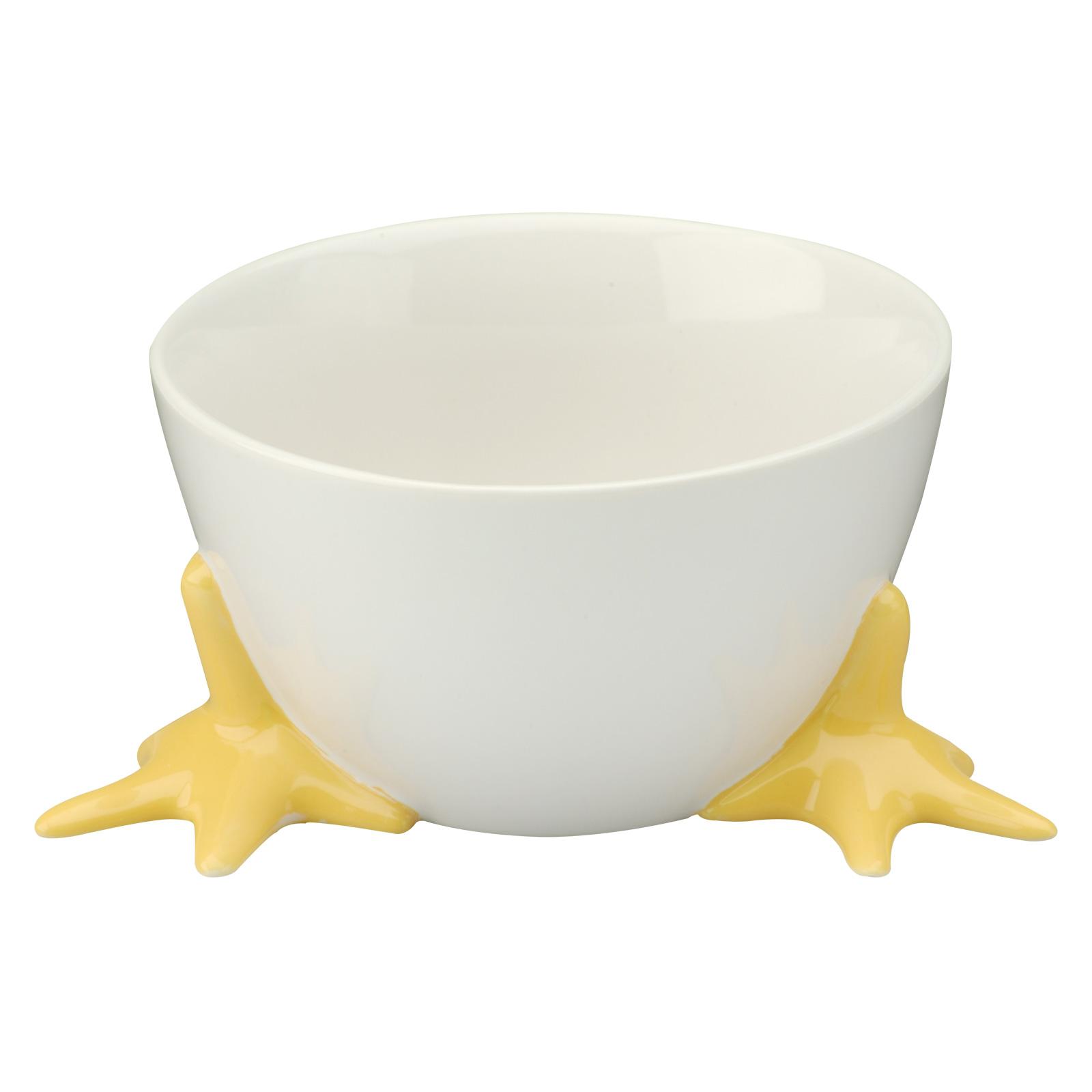 Cordon Bleu White Porcelain Egg Cups With Yellow En Feet Set Of 4 Bia 404150g