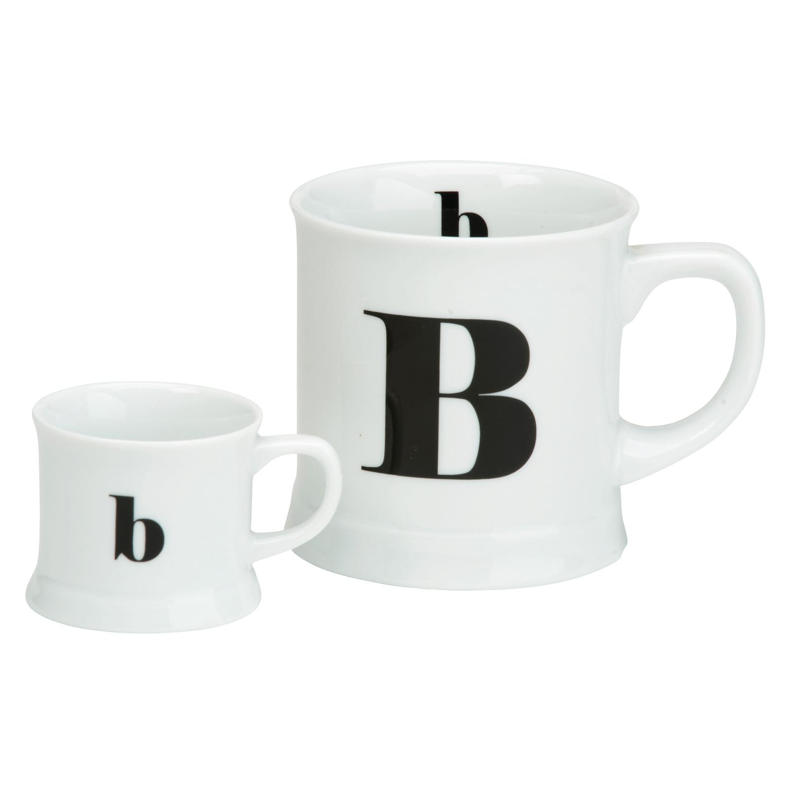 post script espresso u0026 mug set letter e the drh collection