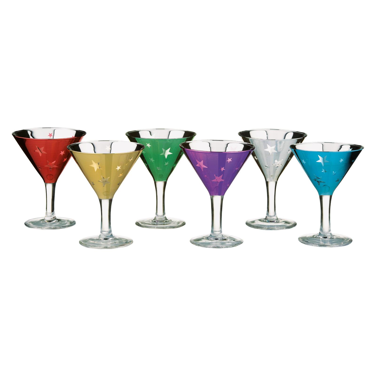 Set of 6 Shooting Stars Mini Martinis